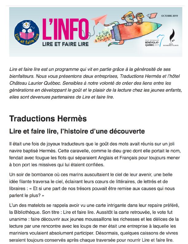 Info LFL Juin 2019