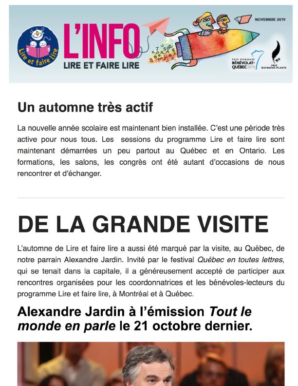 Info LFL Novembre 2019